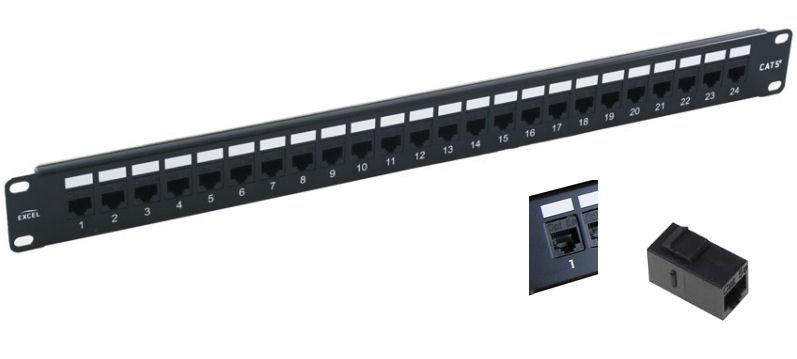 KVM Choice, UK:PP-LC-5E-24-CP Excel 24 Port Cat5E Patch